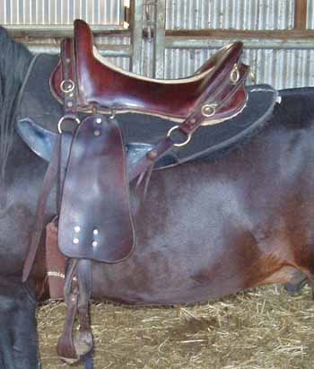 one side horse saddles