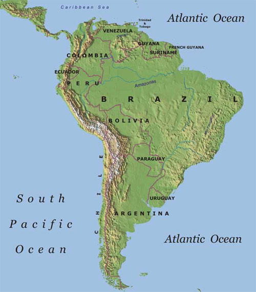 map of argentina and chile. Argentina, Brazil, Chile,