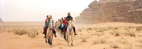 Horse riding vacations in Jordan