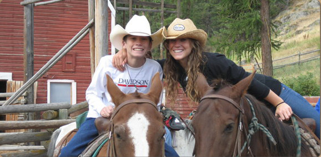 Kids riding program at the Cranbrook Ranch