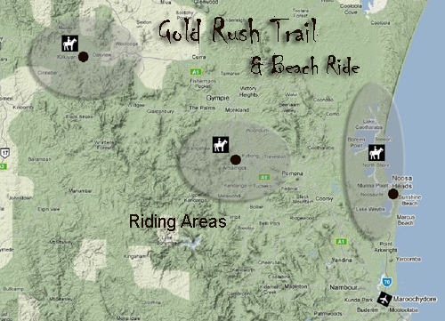 gold rush map australia. Itinerary for Gold Rush Trail