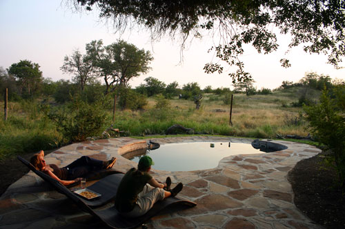 Horseback riding safari Botswana - Naledi Pool