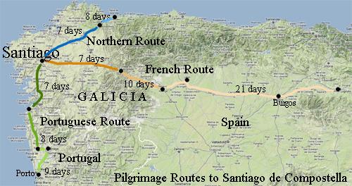 St James Way Pilgrimage Ride Galicia Spain - Portugal rail map pdf