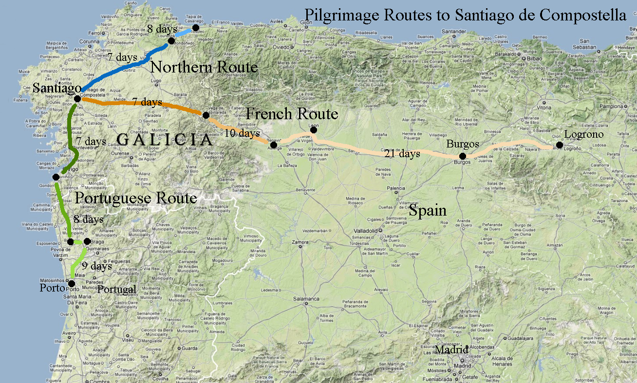 portugal spain road map with Spain Galicia St James Way Ride on 3537140402k as well 127048 0 together with French 20Regions 20Map likewise Romania additionally 2737 Needles Eye.