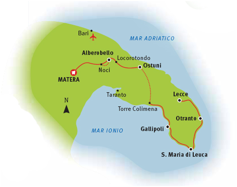 Route Map Gargano
