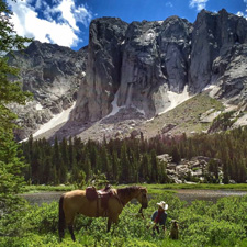 USA-Wyoming-Wind River Wilderness Horse Ranch