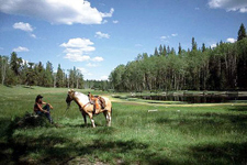 Canada-British Columbia-Cariboo Wilderness - Siwash Lake Ranch