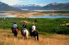Riding in Patagonia, Argentina
