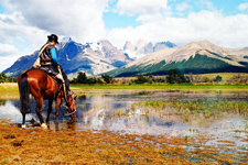 Chile-Patagonia / Torres del Paine-Torres del Paine - Blue Ice Ride/Kayak Combo