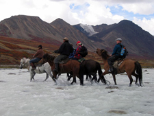 close encounter with the mongolian horsemen and their exquisite