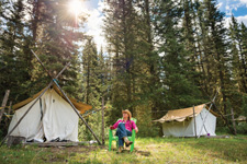 Canada-Alberta-Banff  - Wilderness Tenting Ride