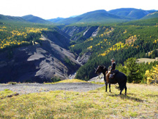 Canada-Alberta-Ride on the Eastern Rockies