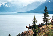 Canada-British Columbia-Chilko Lake Wilderness Pack Trip
