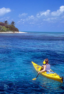 Belize-Belize Coast-Reef Atoll Kayaking Getaway