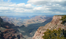 USA-Arizona-Grand Canyon Rim-to-Rim Hiker