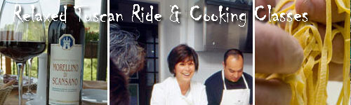 Relaxed Tuscan Ride & Cooking Classes