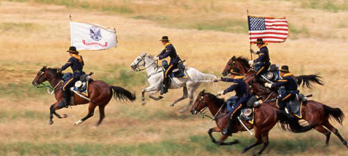 Re-enactment of the Battle of Little Big Horn