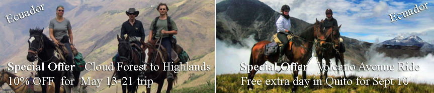 Special Offers for horseback riding adventures in Ecuador