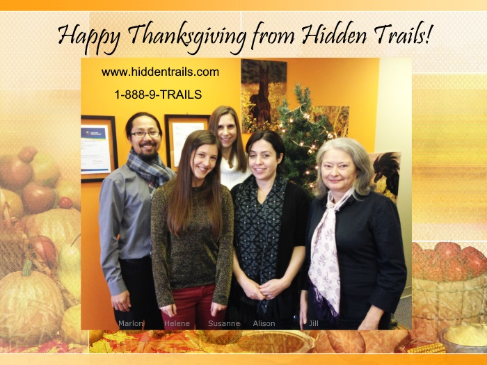 Happy Thanksgiving from Hidden Trails!