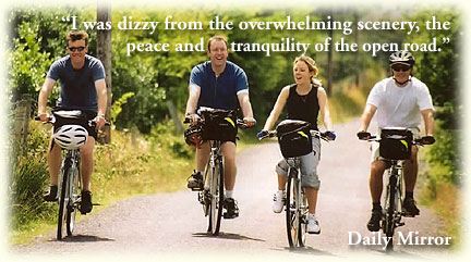 Guided and self guided cycling tours in Ireland