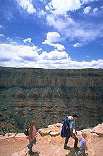 Family in the Grand Canyon